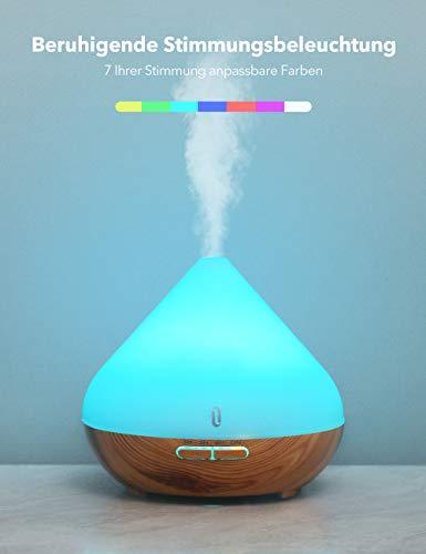 TaoTronics Aroma Diffuser 300ml Ultraschall Luftbefeuchter Diffusor BPA-Free Aromatherapie Düfte...