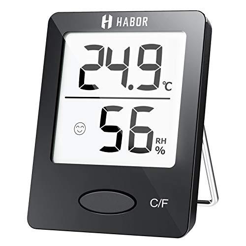 Habor Thermo-Hygrometer, Luftfeuchtigkeitsmessgerät Innen Digitales Thermometer Hygrometer Innen...