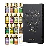 PHATOIL ätherische Öle Set 15Pcs, Lavendel, Eukalyptus, Jasmin, Zitronengras, Süßorange,...