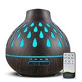 Aroma Diffuser 500ml, Raumbefeuchter, 7-Farben LED Lichter und 4 Timer-Einstellungen, Diffusor für...