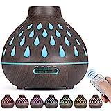 Aroma diffusor (500 ml), Ultraschall befeuchter, Ätherische Öle Diffusor mit LED-Beleuchtung und...