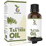 Teebaumöl BIO 50ml mit Pipette - 100% naturreines ätherisches Öl aus Australien, vegan - zur...