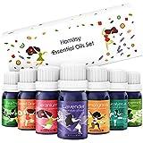 100% Reines Ätherische Öle Geschenk-Set, Homasy'Seven+' Aromatherapie Duftöl Aroma Öle Essential...