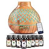 400ml Aroma Diffuser mit 8 * 10ml Ätherische Öle Set,Luftbefeuchter Ultraschall Duftlampe...