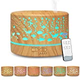 Hianjoo Aroma Diffuser 700ml Luftbefeuchter mit Timer, Ultraschall Aromatherapie Diffusor LED mit 7...
