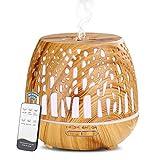 Simpeak Aroma Diffuser 400ml, LED Ultraschall Duftzerstäuber mit Fernbedienung, Essential Öl...