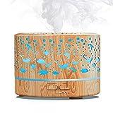 MEIDI Aroma Diffuser 500ml, Ultraschall Duftlampe Elektrisch, BPA-Free Holz Design mit 7 LED Farben...