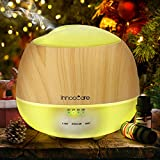 Aroma Diffuser 500ml Öl Luftbefeuchter Ultraschall Humidifier Holzmaserung LED mit 7 Farben für...
