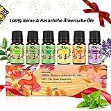 Aromatherapie Ätherische Öle Geschenkset für Diffuser - 100% Pure Aroma Duftöle - Teebaumsöl,...