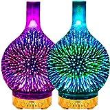 Aroma Diffuser,120ml LED Luftbefeuchter Ultraschall, Ätherisches Öl Diffuser,Elektrisch Duftlampe...