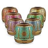 Aroma Diffuser 500ml Öl Luftbefeuchter Ultraschall Humidifier Metall Goldbronze LED mit 7 Farben...