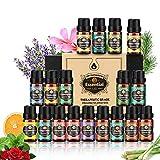 Ätherische Öle 18x10 ml, Teebaum, Lavendel, Eukalyptus, Weihrauch, Zitronengras, Rosmarin, Orange,...