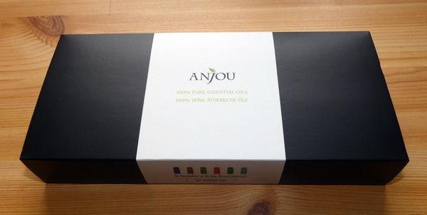 Anjou Aromatherapie Duftöl Set mit 6 ätherischen Ölen Verpackung geschlossen
