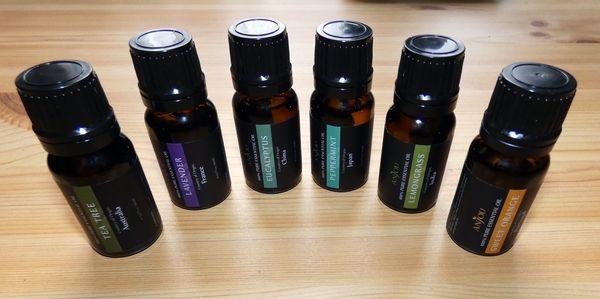 6 verschiedene Düfte im Anjou Aromatherapie Duftöl Set