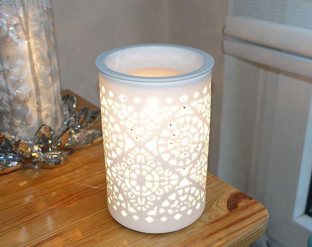 Levandeo Elektrische Duftlampe aus Porzellan