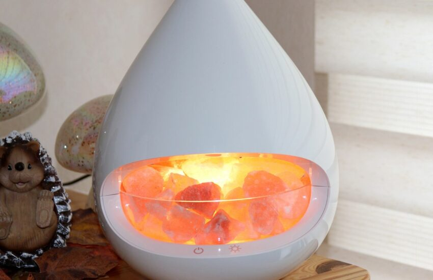 Aroma Diffuser mit Salzkristall-Leuchte